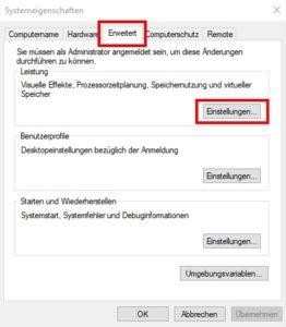 Tuning-PC-Tuning-Auslagerungsdate-Erweiterte-Einstellungen-markiert
