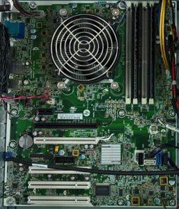 Hardware Computer Innenleben Mainboard