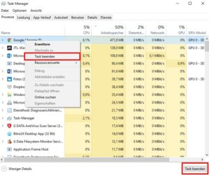 Tuning-PC-Tuning-Taskmanager-Marked-task-beenden