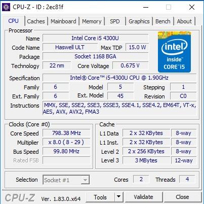 CPUZ Beispiel 01