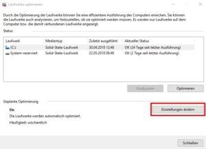 Screenshot Defrag-Festplatte-Einstellungen
