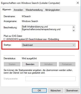 Screenshot Windowssearch
