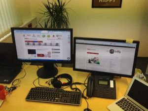 Arbeitsplatz Büro eigenes Bild