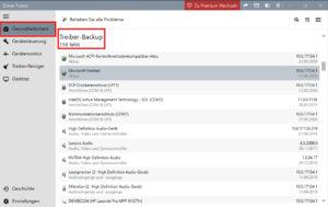 DriverFusion Treiber Check für Backups