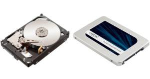 SSD und HDD nebeneinander gestellt