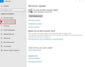 Windows 10 Sicherheit Übersicht Screenshot