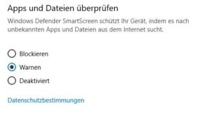 App Überprüfung Screenshot Windows 10