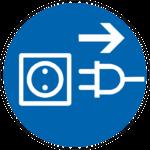 Symbol Steckdose mit Stecker