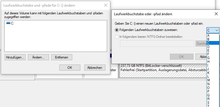 Laufwerksbuchstabe verändern Windows 10