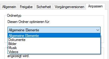 Ordneransichten Windows 10
