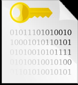 Binärcode mit Vorhängeschloss