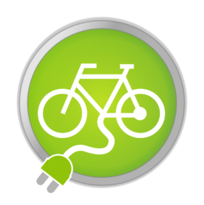 Symbol E-Bike grün