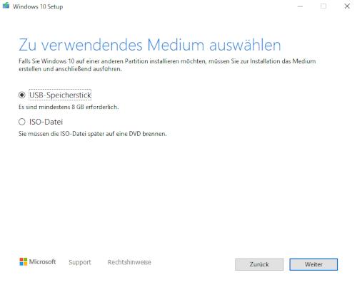Windows 10 Media Creation Tool Screenshot
