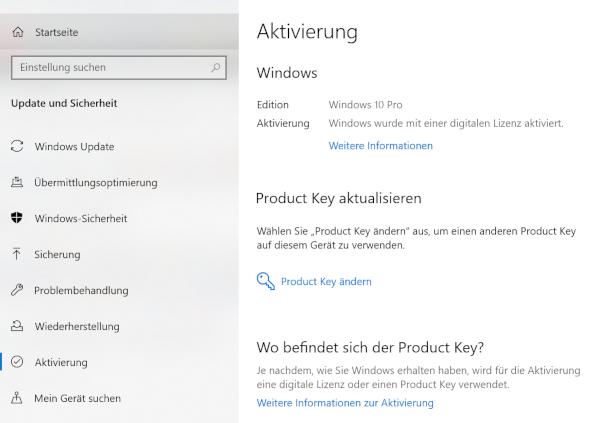 Windows 10 Screenshot Aktivierung