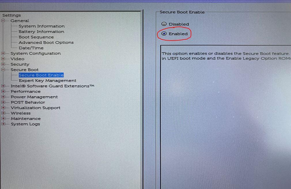 Dell BIOS-Bildschirm