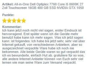 Screenshot AIO Dell 7760 Bewertung